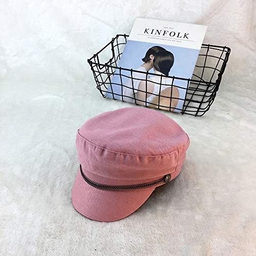 S*women's hat Schatten Maler-Hut-Weinlese-britischer literarischer achteckiger Hut-weiblicher Zeitungs-Junge im Freienbarett-japanische Kappe Stilvoll (Farbe : - Zeitung Junge Kostüm