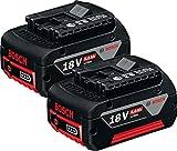 Bosch Akku-Pack 2 Stück 18 V 5,0Ah Li-Ion, 0615990G6Z