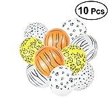 TOYMYTOY 10 Stück Latex Tier Fußabdruck Ballon Dschungel Stil Leopard Ballon für Kinder Geburtstag Party Decor