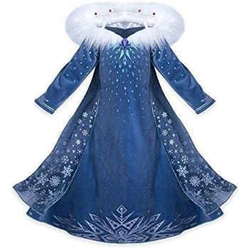 61582a2babff NNDOLL Princess Vestito Carnevale Bambina Abito Costume Bimbi Deluxe Elsa  131