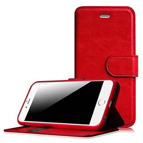 Fintie iPhone 6S Plus / iPhone 6 Plus Schutzhülle in Brieftasche-Style - Hülle mit Aufsteller KunstlederSchutzhülleCoverTasche für Apple iPhone 6S Plus / iPhone 6 Plus (5.5 Zoll) - Blau Rot