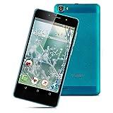 TIMMY M12 5,5''Zoll 3G-Smartphone Android5.1 1.3GHzQuad Core DualSIM 1GB RAM+8GB ROM Handy ohne Vertrag dual Kamera SmartWake Air GestureBlau