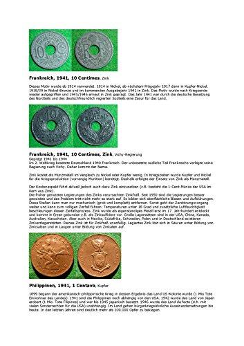 Kalenderblatt zum Jahr 1941: Zu Hintergründen der französischen Zinkmünzen des Jahres 1941 (1 Centavo von Philippinen des Jahres 1941 und zu einigen geschichtlichen Fakten des Landes) (Land Französisch Antiquitäten)