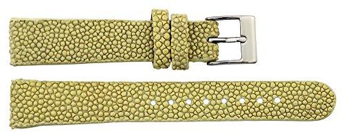 Moog Paris Beige Galuchatleder Uhrenarmband, Dornschließe, 16mm Ersatzband _ B16011