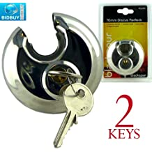 HIGH SECURITY HEAVY DUTY 70MM DISCUS STAINLESS STEEL PADLOCK - HARDENED STEEL SHACKLE - BRAND NEW (1 PADLOCK) by Bid Buy Direct