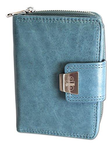 Damengeldbörse Portemonnaie Geldbeutel Rindleder 5197
