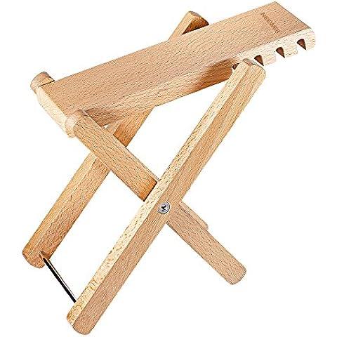 Neewer® Solid reposapiés para guitarra Pie Resto de madera bien con 4posiciones de altura regulable de 4,9