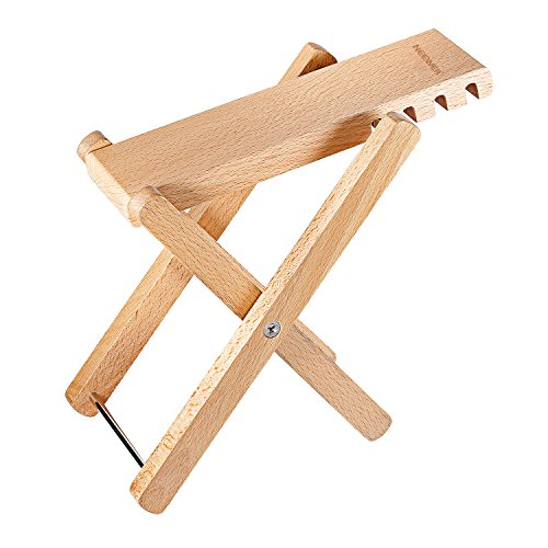 neewerr-solid-well-crafted-wooden-guitar-footstool-foot-rest-with-4-easily-adjustable-height-positio