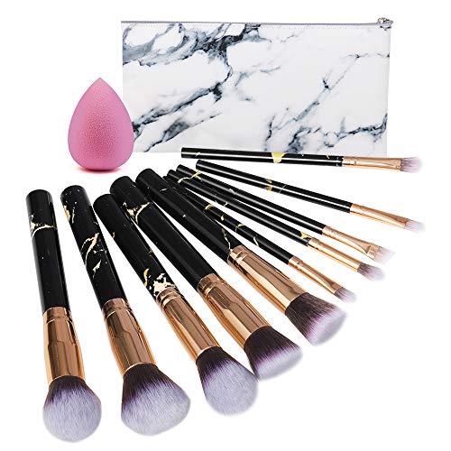 CGBOOM Make up Pinsel Set mit Tasche, 10-tlgs Kosmetikpinsel Schmink Pinselset Professional...