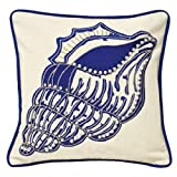 Paoletti Carcasa jonia Decorada 100% algodón cojín con, diseño de Lunares, Color Azul, 30x 30cm
