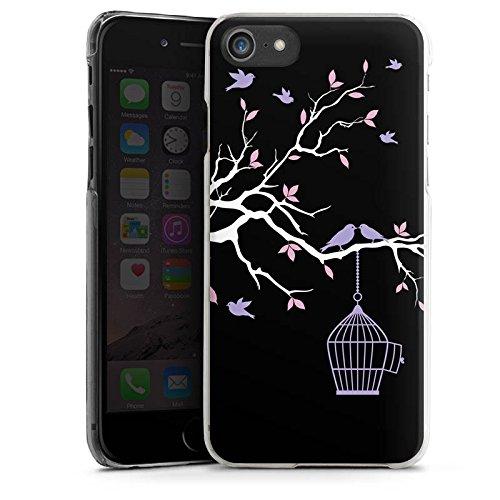 Apple iPhone X Silikon Hülle Case Schutzhülle Blüten Freiheit Vögel Hard Case transparent