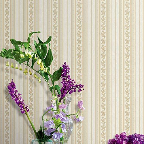 yhyxll Tapeten-Hoteldekoration PVC-Tapete 3 der Retro- einfachen europäischen vertikalen Streifen 3D -