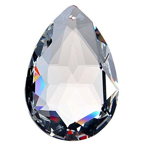 1 Stück Kristall Anhänger Tropfen Dekosteine (50mm) -