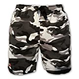 #1: DOT WAVE - Mens army shorts - zipper pocket - military printed