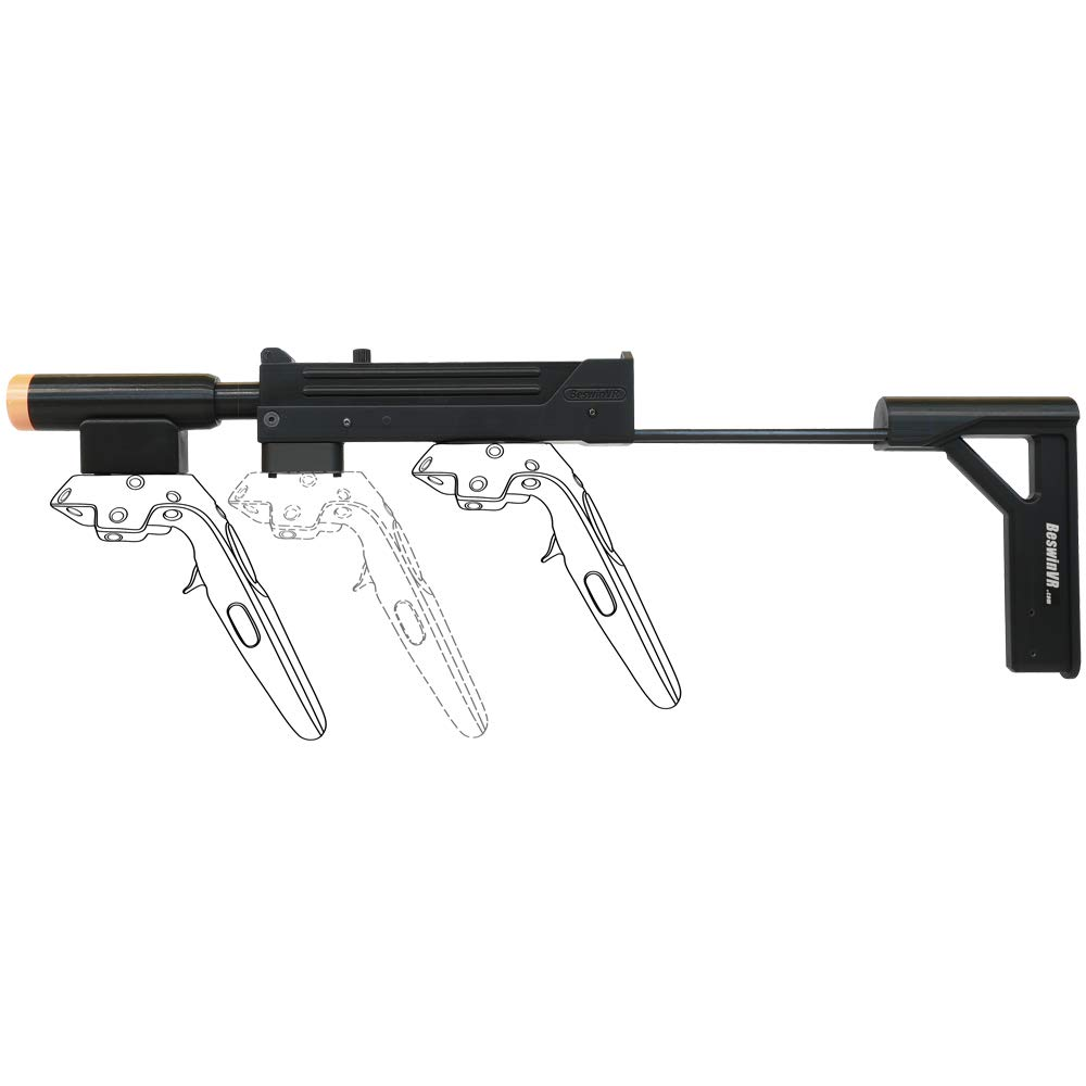 BeswinVR MAC11 VR Vive Stock magnétique pour Poignée magnétique HTC Vive 1.0 | Contrôleur Vive Pro 2.0 (Model Patent Protect)