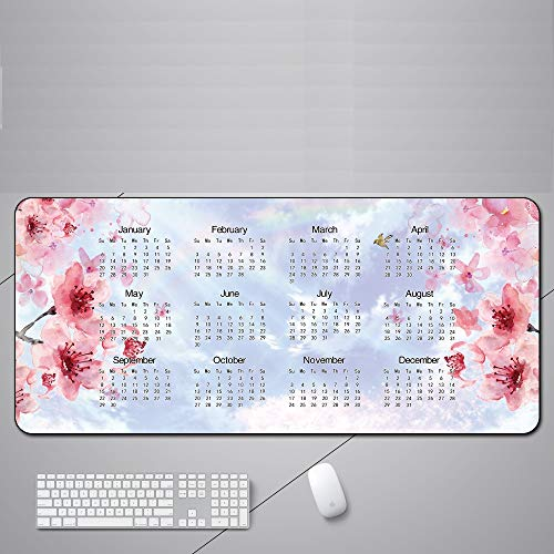 Gaming Mouse Pad Kalender Schreibtisch Pad Übergroße Mauspad Naturkautschuk-Material für PC, Büro, Tastatur Matten700x300x3mm