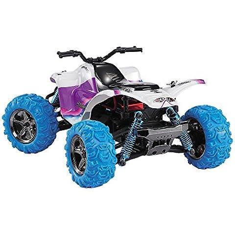GPTOYS S609 - Vehículo Coche Camion RC 2.4Ghz 40Km/h ATV (Sistema 4WD, Impermeable, 30-40min Duración, 100M Distancia de Control, Anti-choque, Nylon) (Azul y Blanco)