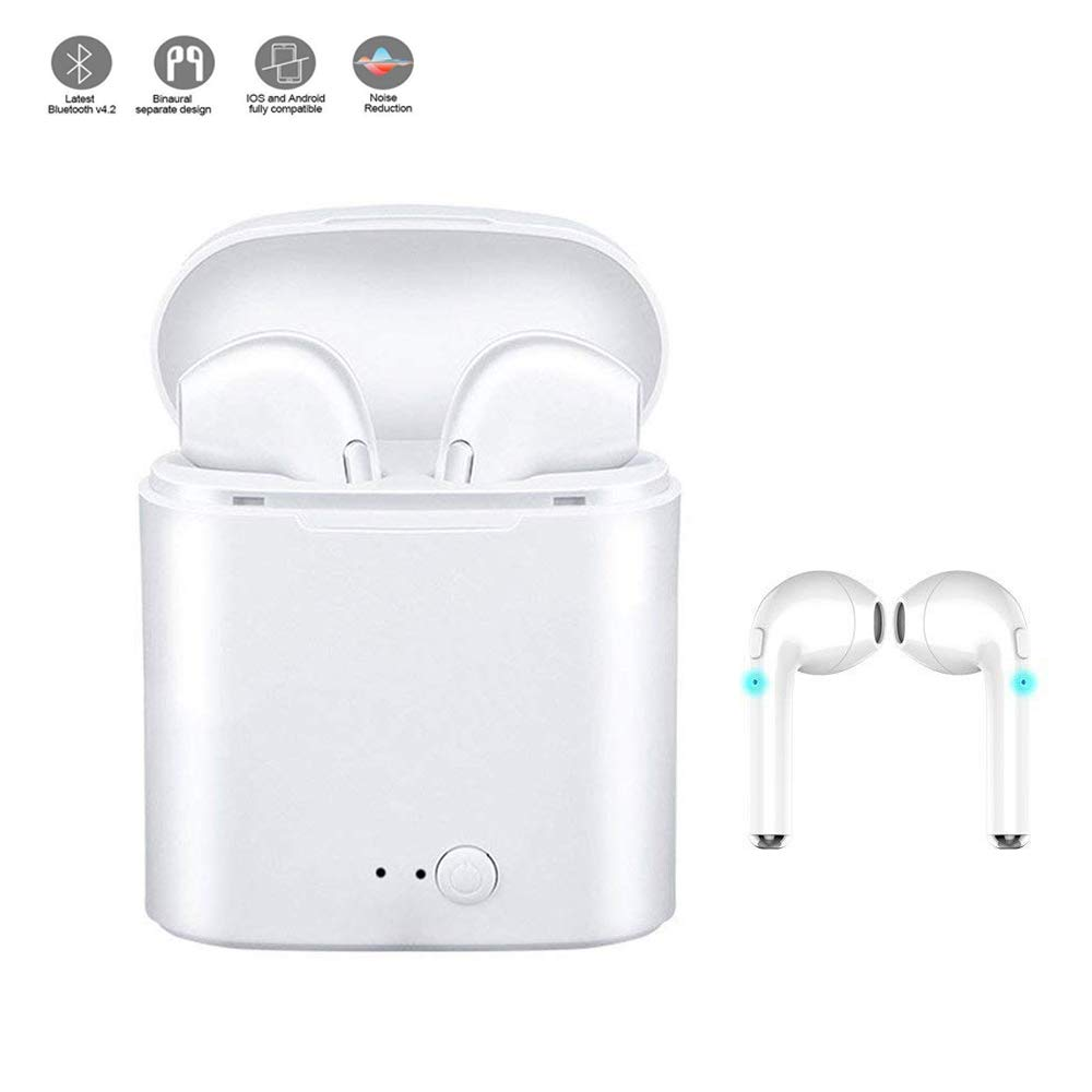 zdvgdxfjfyAuriculares Bluetooth con calidad de sonido estéreo, señal Bluetooth fuerte y estable, auriculares deportivos con función anti-sudor / anti-caída / reducción de ruido (blanco)