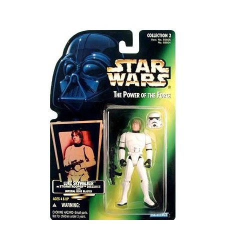 Star Wars: Power of the Force Green Holo Card Luke Skywalker in Stormtrooper Disguise Action Figure