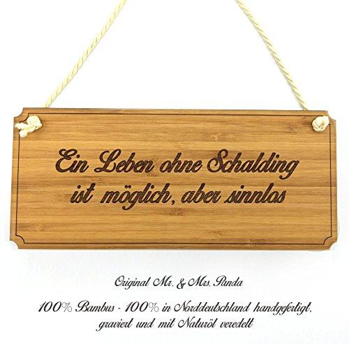 Mr. & Mrs. Panda Türschild Stadt Schalding Classic Schild - Gravur,Graviert Türschild,Tür Schild,Schild, Fan, Fanartikel, Souvenir, Andenken, Fanclub, Stadt, Mitbringsel
