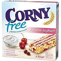 CORNY free Kirsch-Joghurt, Müsliriegel OHNE Zuckerzusatz, 120g Schachtel mit 6 Riegeln