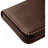 #4: Alexvyan -Genuine Accessory - Stylish Pocket Sized Stitched Leather Visiting Card Holder For Keeping Business Cards And More - Brown