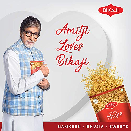 Bikaji Aslee Bikaneri Bikaji Aloo Bhujia Tana-Tan - Potato Flakes Indian Namkeen Snack 400g - Pack of 4