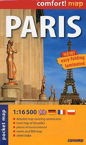 París, plano callejero de bolsillo plastificado. Escala 1:16.500. ExpressMap. (Comfort ! Map) por VV.AA.