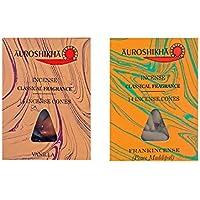 Indische Räucherkegel Auroshikha 2er Set: VANILLE und WEIHRAUCH/Frankincense, je 1 Packung mit 14 Kegel preisvergleich bei billige-tabletten.eu