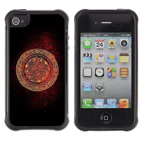Graphic4You 3D Digital Muster Design Harte Hülle Case Tasche Schutzhülle für Apple iPhone 4 und 4S Design #11