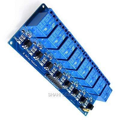 SHAHIDEER Módulo Relé de 8 Channel DC 5V con Optoacoplador para Arduino UNO R3 Kit MEGA 2560 Proyecto 1280 DSP ARM PIC AVR STM32 Raspberry Pi Electronic Escudo
