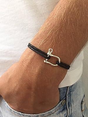 Bracelet manille de bateau en argent 925