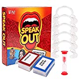 Speedrid Outdoor Garden Familienparty BBQ Kartenspiel Party Speak Out Challenge Game, inkl 5 Mundstücke 200 Doppelseitige Karten Timer