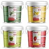 animalone - PFERDELECKERLIS 4 Verschiedene Sorten Erdbeere, EUKALYPTUS, Banane & Apfel jeweils in Einem 5 KG Eimer als Set (20 KG) - die gesunden Leckerlis für Ponys und Pferde