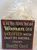 """SBF en céramique pour bougie chauffe-plat porte il a été prouvé qu'une femme peut être remplie avec seulement 3 1/2 inches... It """"s a demandé une carte de crédit..."""