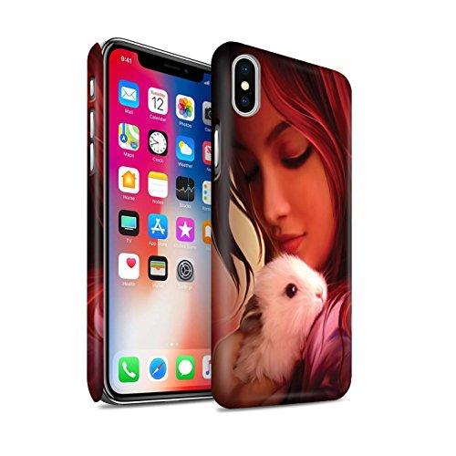 Officiel Elena Dudina Coque / Clipser Matte Etui pour Apple iPhone X/10 / Dans mes Bras/Sûr Design / Les Animaux Collection Dans mes Bras/Sûr