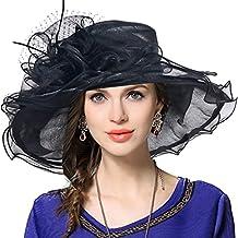 Mujeres Lglesia Derby Vestido Fascinator Gorro Nupcial Fiesta Boda Sombrero 4164a4a2e36