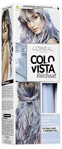 L'Oréal Paris Colovista 2-Week Washout #BLUEHAIR, Haarfarbe, auswaschbar nach 5-10 Haarwäschen, in eisigem Blau, DOITYOURWAY