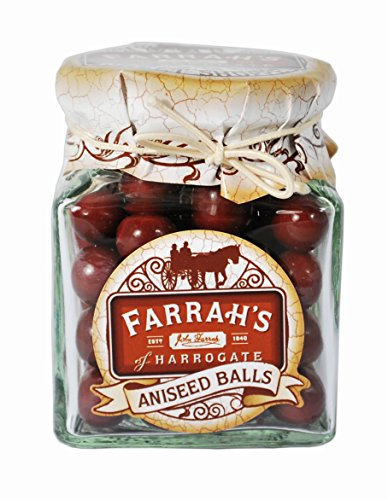 Farrah's of Harrogate Aniseed Balls Sweet Jar 170 g
