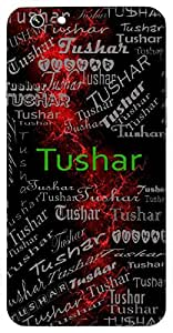 Tushar (Mist, Fine Drops Of Water) Name & Sign Printed All over customize & Personalized!! Protective back cover for your Smart Phone : Samsung Galaxy Note-4