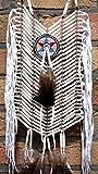 NEU Indianer BRUSTPANZER 25 x 55 cm. echte Knochen Bone Hairpipes MASSIV echte Knochen WEISS Fotoshooting Fasching Halsschmuck