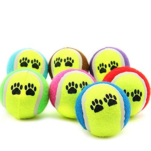 Hund Spielzeug,1 Stück Haustier Tennis Ball Spielzeug,Hund Spielzeug,Tennis Ball Spielzeug für Hunde Welpen Kauen Spielzeug,Ball Spielzeug Haustier Liefert,für Indoor Outdoor (zufällig) -