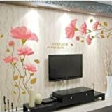 2 Pcs Diy Removable lotus flower Wall Stickers Home room Decor Removable Wall Sticker/Decal …