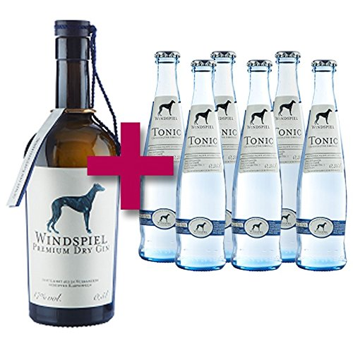 Windspiel Premium Gin und 6 Flaschen Tonic