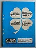 TIGA Motor-Rasenmäher Popular, President, RA-Dino 2T/4T, RB-Dino, Dino EL, BA 20, BB 800, BE 220, TB 300/500, SB 50-502-512, Turbo45 - Ersatzteilliste
