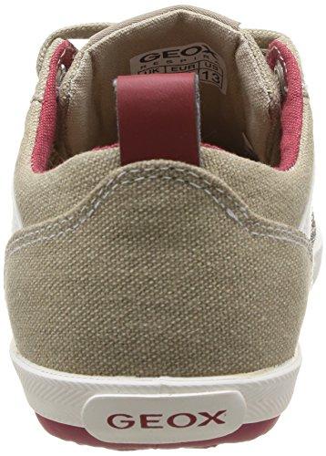Geox  J Kiwi B I,  Sneaker bambino Marrone (Marron (Sand/Red))