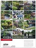 KOIPON Teichkalender 2019 A3 Wandkalender mit Monatsansicht als Monatsplaner mit Motiven von Koi Garten Teich und Natur als Kalender zum Aufhängen
