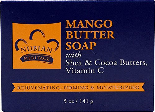 Nubian Heritage Mango Butter Bar Soap with Shea & Cocoa Butter, Vitamin C -- 5 oz (3 unit pack) by Nubian Heritage (Heritage-mango-butter Nubian)