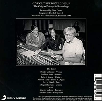 Give Out But Don't Give Up: The Original Memphis Recordings