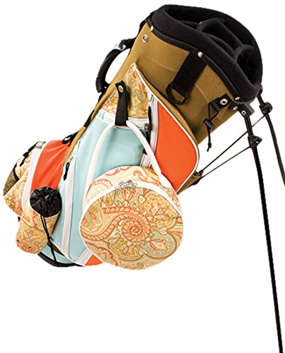 sassy-caddy-womens-groovy-golf-stand-bag-coral-light-blue-taupe